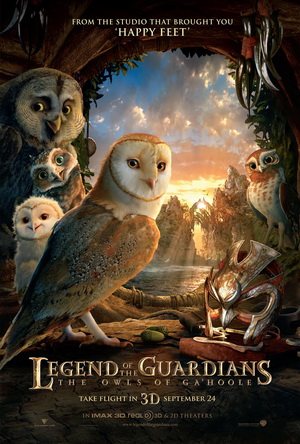 Legend of the Guardians, Owls of Ga&#039;Hoole Gahoole film movie poster